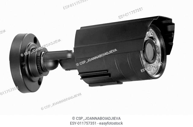 surveillance camera , studio shot