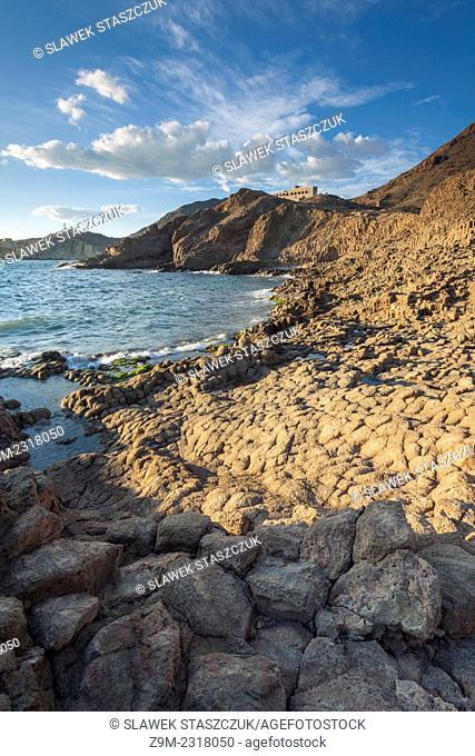 Afternoon at Cala de las Sirenas, Nijar municipality, Almeria province, Andalusia, Spain