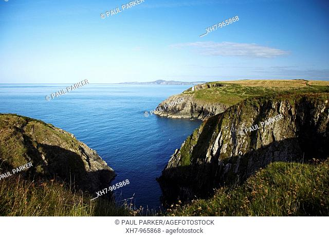 View of Strumble Head from Porthgain, West Wales, UK