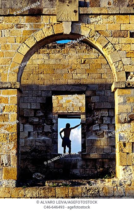 Shirley Heights Fortifications,  Antigua island. Antigua and Barbuda. West Indies. Caribbean