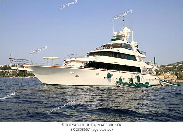 Forty Love, a cruiser built by West Coast Custom, length: 42.06 meters, built in 2002, Cap Ferrat, French Riviera, France, Europe