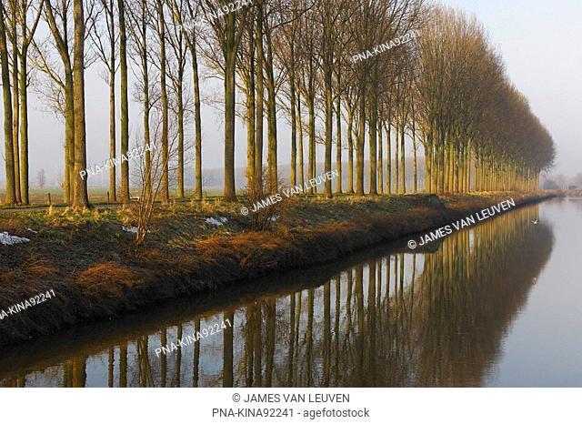 Damse Vaart, Damme, Flanders, Belgium, Europe