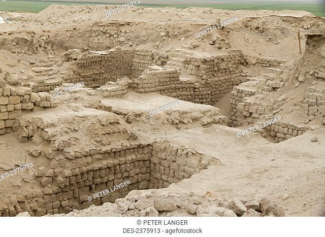 Church Complex near Huaca Cao Viejo (or Huaca Blanca) at El Brujo Archaeological Complex, La Libertad, Peru