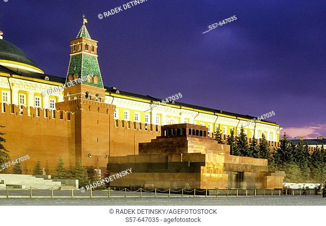Lenin Mausoleum, Kremlin Wall, Red Square, Moscow, Russia