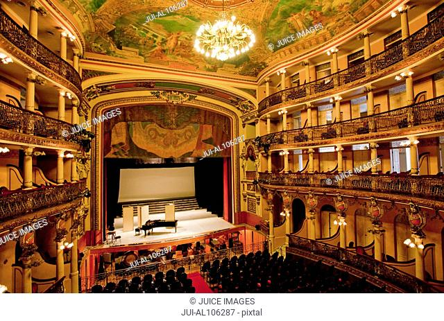 Interior of Teatro Amazonas, Amazon Theatre in Manaus, Amazonas, Amazon River, Brazil