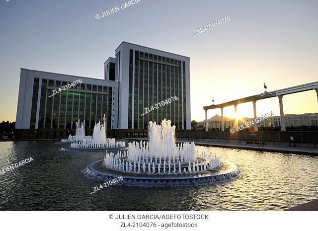 Fountain near the crying mother monument. Uzbekistan, Tashkent