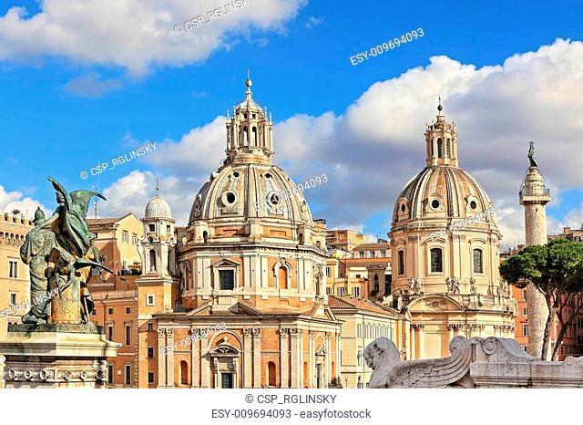 Santa Maria di Loreto church. Rome, Italy
