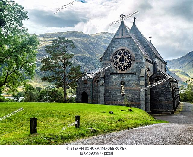 Church of Glenfinnan, Loch Shiel, Highlands, Scotland, Great Britain