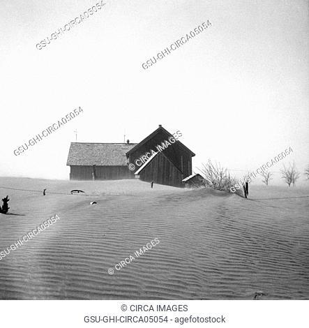 Dust Storm Damage, Cimarron County, Oklahoma, USA, Arthur Rothstein, Farm Security Administration, April 1936