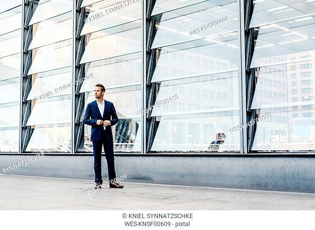 Germany, Berlin, businessman at Potsdamer Platz