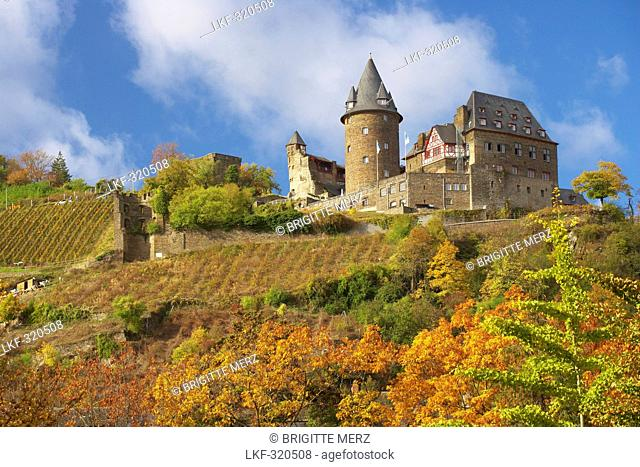 Stahleck castle at Bacharach, River Rhine, Cultural Heritage of the World: Oberes Mittelrheintal since 2002, Mittelrhein, Rhineland-Palatinate, Germany, Europe