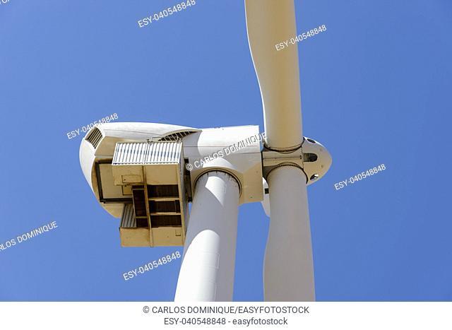 Wind turbine of 3. 6 MWatt in Barrax Albacete Spain