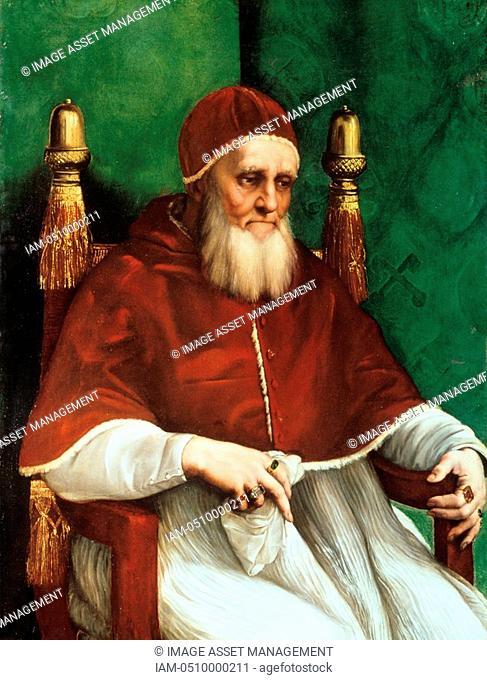 Julius II born Giuliano della Rovere - 1443-1513 Pope from 1503. Known as the Warrior Pope. 1511-1512: Raphael Raffaello Santi 1483-1520 Italian painter