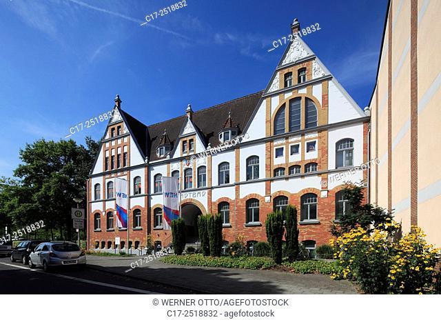 Germany, Viersen, Niers, Lower Rhine, Rhineland, North Rhine-Westphalia, NRW, Stadtbad, municipal baths, public bath, Gruenderzeit, art nouveau