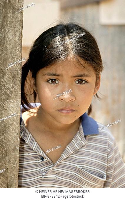 Portrait of a child, Paraguay, South America