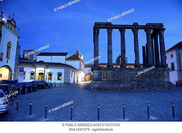 Diana's temple in Evora, Portugal