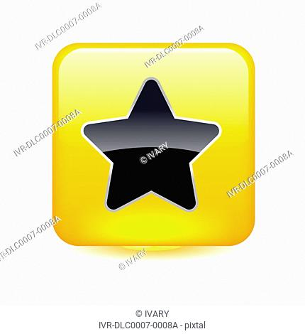 Star sign on yellow cube