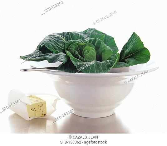 Winter spinach and sesame butter