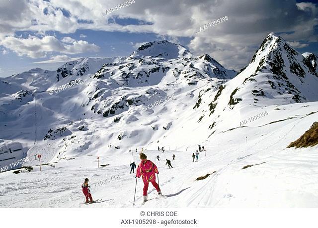 Skiers On Piste.Obertauern,Austria