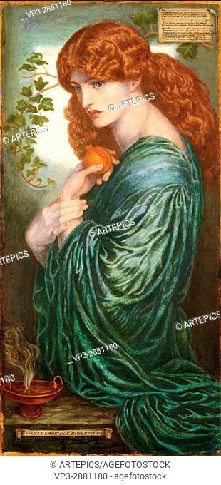 Dante Gabriel Rossetti - Proserpine - Birmingham Museum and Art Gallery