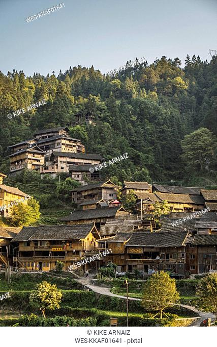 China, Guizhou, Miao settlement
