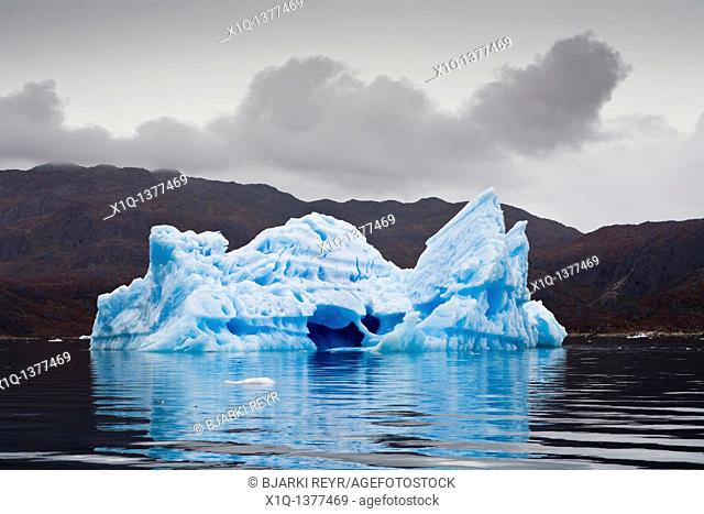 Iceberg floating in the ocean, South Greenland