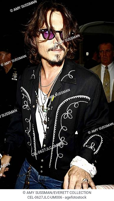 Johnny Depp at talk show appearance for The Late Show with David Letterman, The Ed Sullivan Theater, New York, NY, July 27, 2006
