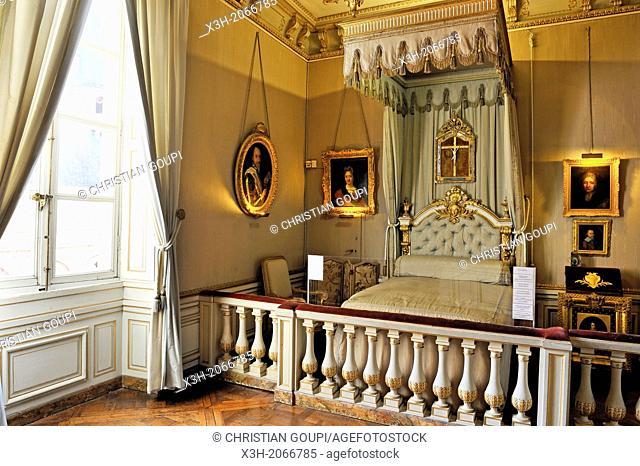 bedroom of Madame de Maintenon, Chateau de Maintenon, Eure & Loir department, region Centre, France, Europe
