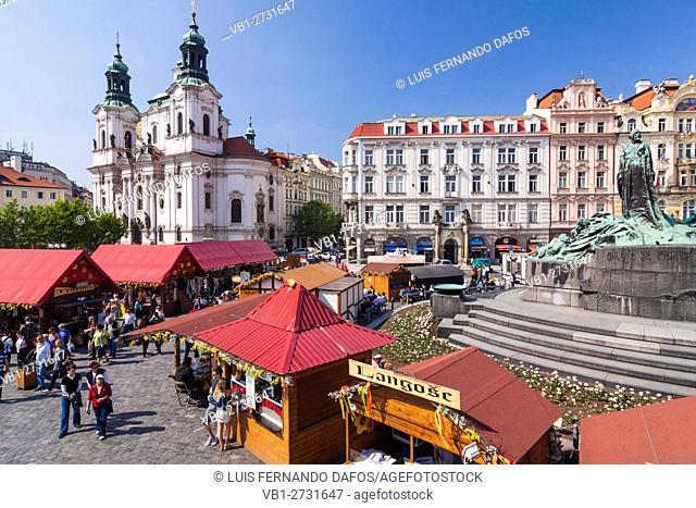 Old Town Sq. Easter Market. Prague, Czech Republic