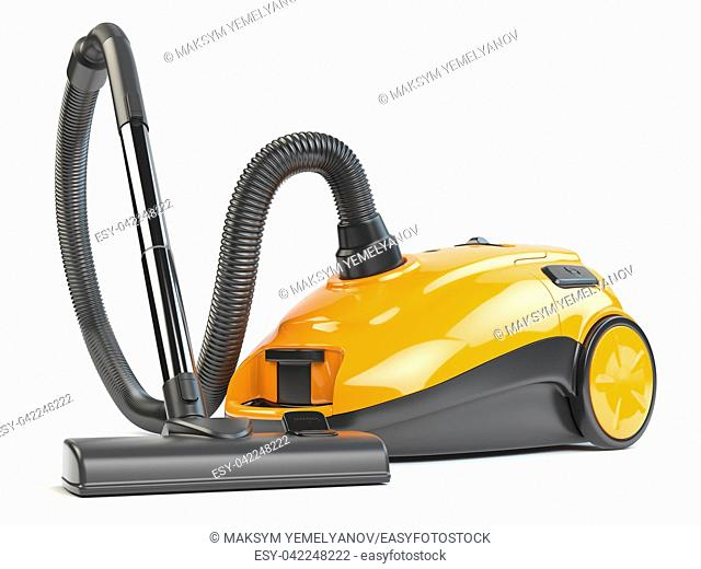 Vacuum cleaner isolated on white background. 3d illustration