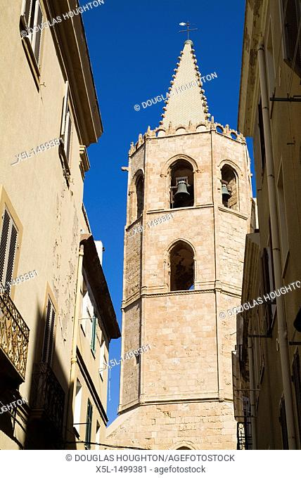 St Mary cathedral ALGHERO SARDINIA Santa Maria cathedral belltower