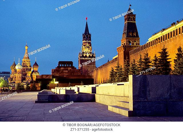 St. Basil's, Kremlin. Red Square. Moscow. Russia