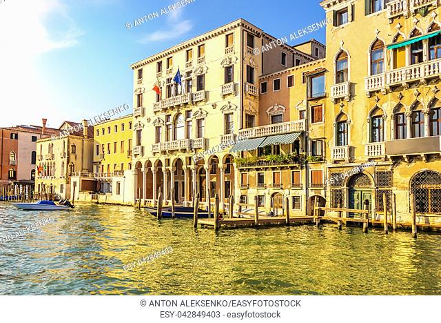 Palazzo Michiel on the Grand Canal in Venice, Italy