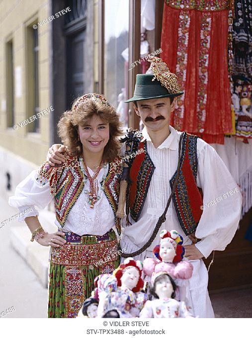 Budapest, Costume, Couple, Holiday, Hungarian, Hungary, Europe, Landmark, Model, Released, Tourism, Traditional, Travel, Vacatio