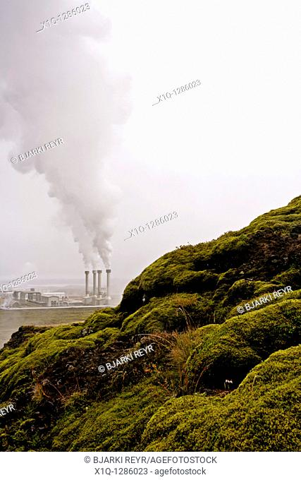 Nesjavellir Geothermal Power Station, South Iceland  It produces electricity and pumps hot water to the Greater Reykjavík Area