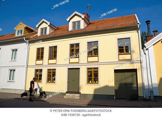 Storgatan street central Kalmar city Småland southern Sweden Europe