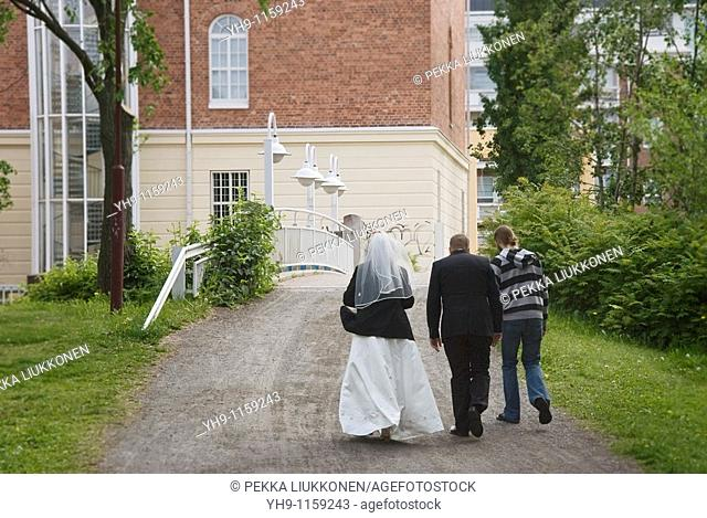 Wedding couple, Oulu, Finland