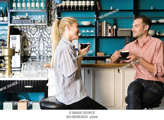 Couple at coffee bar