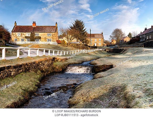 Winter at Hutton beck in Hutton le Hole village