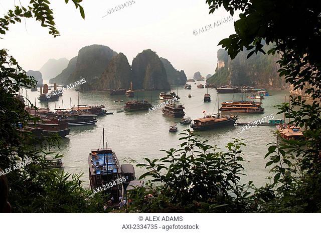 View of Halong Bay; Vietnam