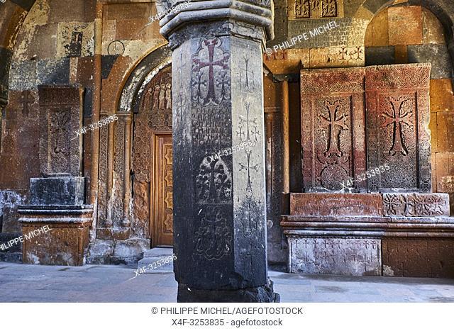 Armenie, province d'Aragatsotn, eglise d'Hovhannavank / Armenia, Aragatsotn province, Hovhannavank church