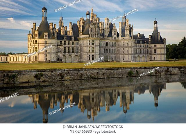 Dawn over Chateau Chambord, Loire-et-Cher, Centre, France