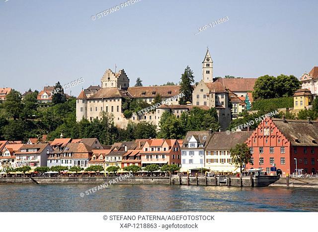 Oberstadt and Unterstadt of Meersburg with view towards Meersburg Castle, Germany