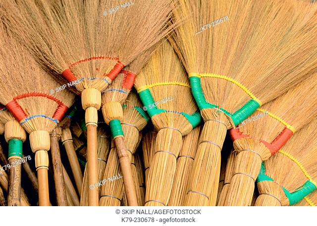 Bamboo brooms from South East Asia