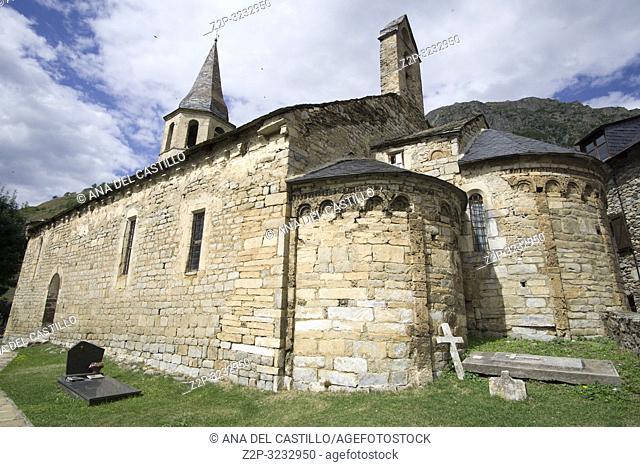 Santa Eularia d'Unha Unha village Aran valley Lleida Catalunya Spain