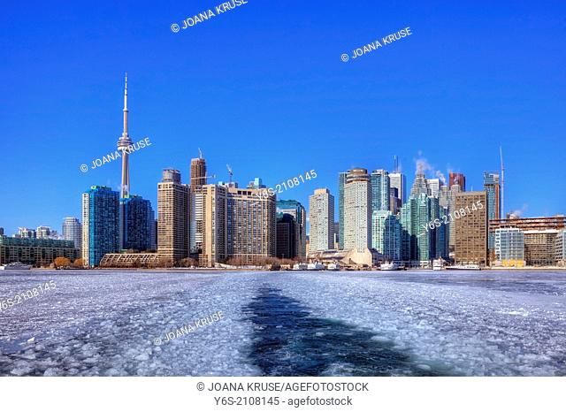 Skyline, Toronto, Ontario, Canada, winter