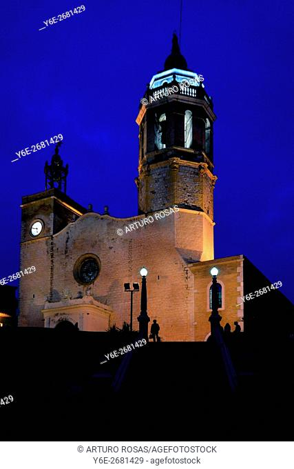 The church of La Punta in Sitges (Barcelona)