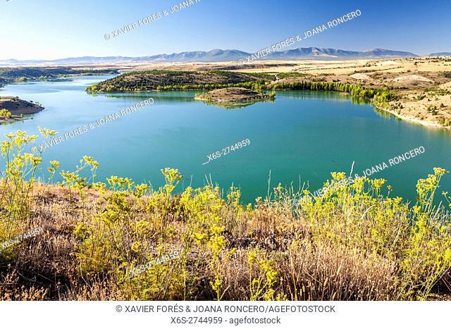 Reservoir of Linares, Natural Park Hoces del Río Riaza, Segovia, Spain
