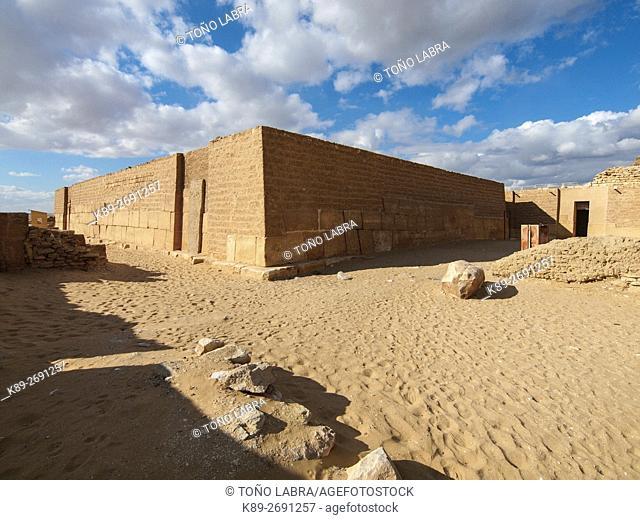 Mastaba of Merou. Archeological remains. Saqqara necropolis. Egypt