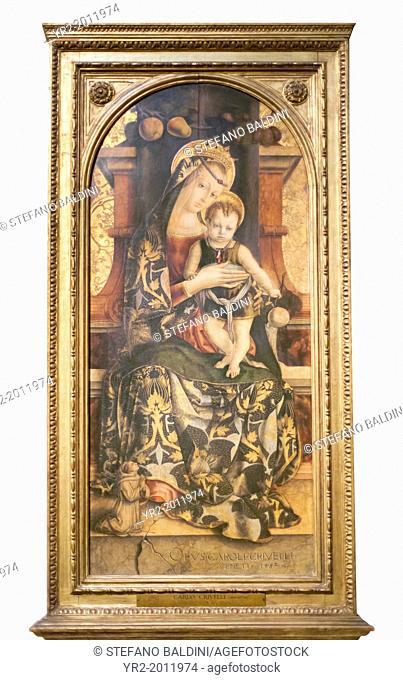 The Virgin and Child, Carlo Crivelli, 1435-1495, vatican museums, Rome, Italy